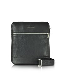 Armani Jeans Black Eco Leather Men's Crossbody Bag