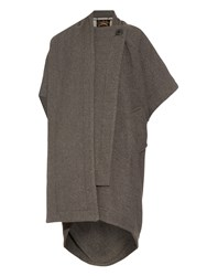 Vivienne Westwood Short Sleeve Wool Blend Blanket Coat