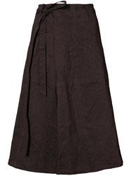 Forme D'expression Striped Side Tie Skirt Pink And Purple