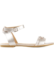 Marc By Marc Jacobs 'Vachetta' Flat Sandals Pink And Purple