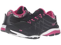 Ryka Vida Rzx 2 Black Steel Grey Pink White Women's Running Shoes