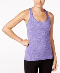 Ideology Essential Racerback Performance Tank Top Only At Macy's Blazing Purple