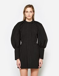 Ellery Sinnerman Bubble Sleeve Mini Dress Black White