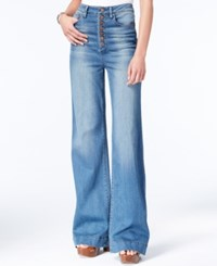 Rachel Roy Button Fly Flared Jeans Only At Macy's Dirty Dancing Wash