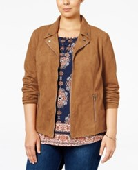 Styleandco. Style Co. Plus Size Faux Suede Jacket Only At Macy's Tobacco