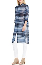 Vince Camuto Women's Two By Textured Skies Stripe Long Tunic