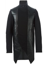 Lost And Found Asymmetric Zipped Jacket Black