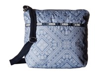 Le Sport Sac Small Cleo Crossbody Hobo Bandana Lace Cross Body Handbags Blue
