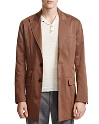 Eleventy Cotton Wool Long Jacket 100 Bloomingdale's Exclusive Brown Rust