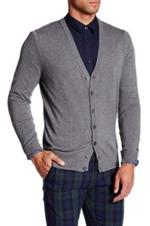 Ben Sherman V Neck Cardigan Gray