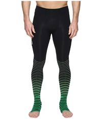 2Xu Elite Recovery Compression Tights Black Green Workout