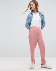 Pieces Iben Pleat Trousers Eros Pink