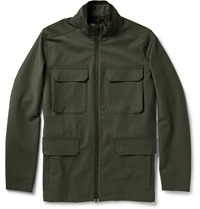 Theory Durant Coated Wool Blend Field Jacket Green