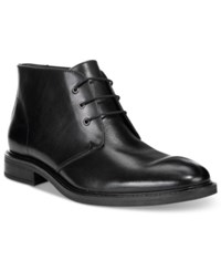 Alfani Men's Lombard Plain Toe Chukka Boots Only At Macy's Men's Shoes Black