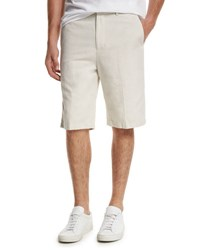 Vince Relaxed Trouser Shorts Beige