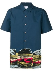 Paul Smith Ps Landscape Shirt Blue