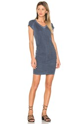 Sundry Ruched V Neck Mini Dress Slate