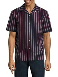 Rag And Bone Cooper Striped Shirt Navy Red