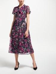 Bruce By Bruce Oldfield Floral Shirt Dress Navy Print