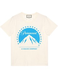 Gucci Oversize T Shirt With Paramount Logo White