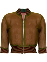 Jean Paul Gaultier Vintage Sheer Bomber Jacket Green