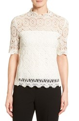 Tahari Women's Elie 'Carolyn' Short Sleeve Lace Blouse