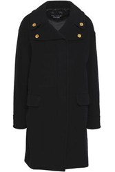 Boutique Moschino Button Embellished Wool And Cashmere Blend Coat Black