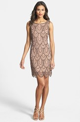 Women's Pisarro Nights Embellished Mesh Cocktail Dress Rose