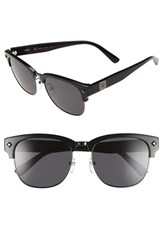 Women's Mcm 55Mm Retro Sunglasses Shiny Dark Gunmetal Black