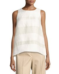 The Row Mikita Sleeveless Popover Top Light Beige