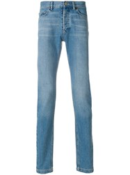 Lanvin High Waisted Slim Jeans Blue