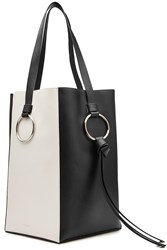 Nina Ricci Totem Two Tone Leather Tote Black