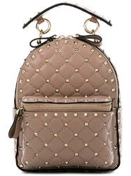 Valentino Rockstud Mini Backpack Nude And Neutrals