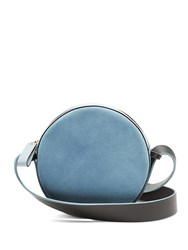 Diane Von Furstenberg Circle Leather And Suede Cross Body Bag Blue