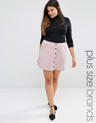 Alice And You Button Up Cord A Line Skirt Pink