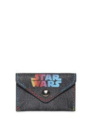 Etro Stars Wars Printed Pvc Wallet Black
