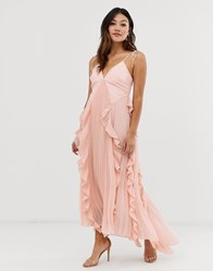 55e9a21ee868d True Decadence Premium Cami Dress With Ruffle And Pleated Skirt In Peach  Pink