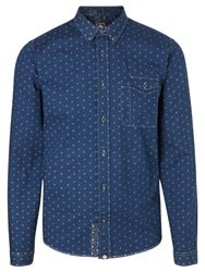 Pretty Green Hadley Floral Shirt Navy
