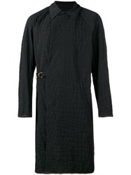 Kolor D Ring Coat Men Polyester Polypropylene Viscose 5 Black
