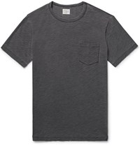 Faherty Indigo Dyed Slub Cotton Jersey T Shirt Black