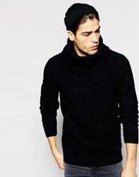 Minimum Jumper With Cowl Neck Black