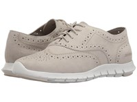 Cole Haan Zerogrand Wing Oxford Open Hole Sandshell White Women's Lace Up Casual Shoes Bone