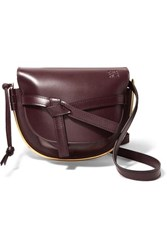 Loewe Gate Small Embellished Leather Shoulder Bag Burgundy