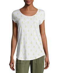 Soft Joie Jeslyn B Pineapple Cotton Top White