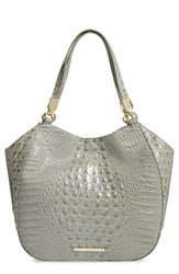 Brahmin Melbourne Marianna Leather Tote Green Silver Sage
