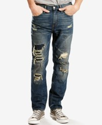 Levi's 511 Slim Fit Ripped Jeans Brooklawn Destructed