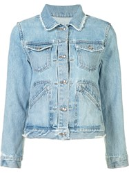Derek Lam 10 Crosby Classic Denim Jacket Blue