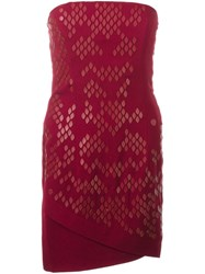 Jay Ahr Strapless Mini Dress Red