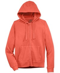 American Rag Men's Washed Fleece Zip Hoodie With Pockets Only At Macy's Weathered Red