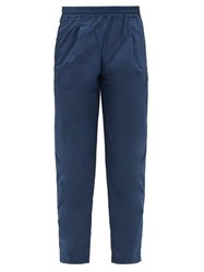 The Gigi Stretch Cotton Seersucker Trousers Navy